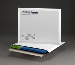 "Conformer Paperboard Mailer with true 1"" capacity"
