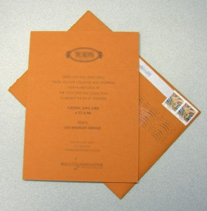 Invite and envelope.